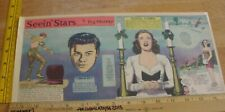 Deanna Durbin Danny Kaye Seein' Stars Feg Murray 1940s Sunday color panel 4h