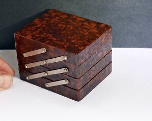 Rare Art Deco English Made Bakelite Expanding Jewellery Box (Small). Vintage