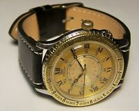 Orig. Longines Lindbergh Weems Hour Angle Automatik Stahl / Gold Fliegeruhr HAU