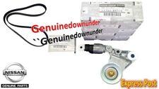 GENUINE Nissan Drive BELT & Tensioner Pulley PATROL GU ZD30 CRD 2007 On
