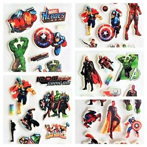 Marvel Avengers 3D Puffy Stickers for Kids Reward School Scrapbook Craft Sheets