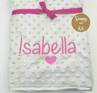 Personalised Baby Girl Princess Blanket Embroidered Pink Gold Crown Gift Queen