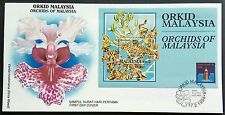 Malaysia 1994 Flowers Orchids Mini-Sheet Stamp FDC (Melaka Cancellation)