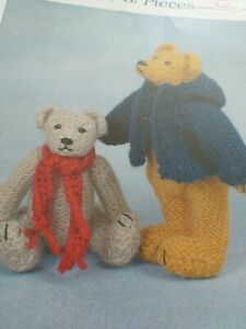 Knits & Pieces 4 Ply Teddy Bear Knitting Pattern