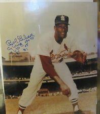 Bob Gibson St Louis Cardnial 16x20 signed Autograph 3 Inscriptions   *