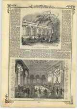 1844 el Banco de Inglaterra, Salón del jardín e interior