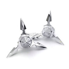 Chrome Spun Blade Spinning Axle Caps For Harley 30MM Street Glide Bright Parts