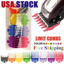 Clipper Guide Combs 8PCS Rainbow Colours Hair Clipper Guard Set Professional USA