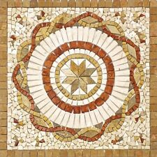 Rosoni rosone mosaico in marmo su rete per interni esterni 66x66 ROSA NOCE