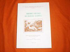 tredici secoli di elegia latina atti del convegno internazionale assisi 1989