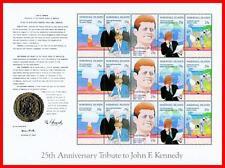 👉 MARSHALL IS. 1988 JFK KENNEDY +  large MS mnh ATOM, MILITARY, MAPS ☜