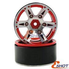 4pcs RC 1.9'' Beadlock Wheels rims Metal For 1/10 RC 4WD Axial 1.9 Crawler Tires
