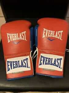 EVERLAST PowerLock 10oz Fight Gloves Once Worn Boxing Gloves Rare 3 CLR Custom