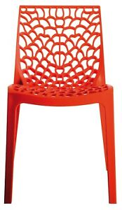 Gruvyer Indoor Outdoor Dining Chairs, from Italy, Stackable, Strong (2 chairs)