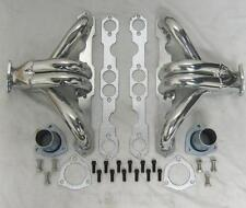 Small Block Chevy Ceramic Coated Hugger Headers Shorty Steet Rod 283 350 400 SBC