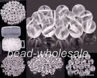 New 4mm/5mm/6mm/8mm 100-500pcs Transparent Acrylic Ball Spacer Beads