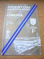 25/01/1969 Preston North End v Chelsea [FA Cup] (Creased & Worn On Covers). No o
