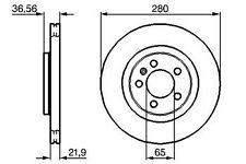 VW NEW BEETLE & CONVERTIBLE FRONT BRAKE DISCS 1J0615301M 1J0615301P DSK774