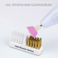 Tools Golden Cleaning Brush Nail Drill Bits Copper Wire Cleaner Dual Brush