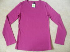 Marks and Spencer Cotton Long Sleeve Scoop Neck Women's Tops & Shirts