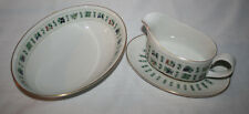 ROYAL DOULTON TAPESTRY OVAL VEGETABLE BOWL & GRAVY BOAT WITH UNDERPLATE SET