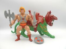 Maitres de l'univers - MOTU - Musclor Et Gringer - He-Man Battle Cat  - Mattel