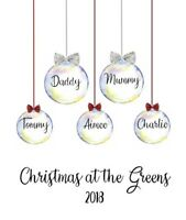 Personalised Christmas Print jumper Wall present bauble Christmas Gift family