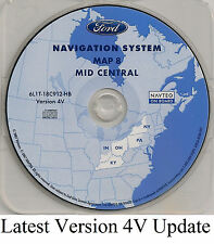 05 06 07 Ford Escape Hybrid Navigation Map Cover OH KY Partial States NY PA IN