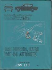 FORD CONSUL CLASSIC 315 & CAPRI CLASSIC 335 1961 - 1964 WORKSHOP MANUAL * VGC *