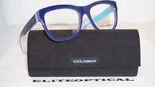 New Authentic Dolce & Gabbana Blue Light Blue/Clear Eyeglasses DG 3179 2769 54