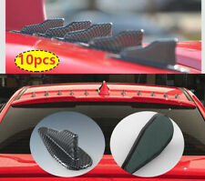 EVO style For Coaring Carbon 10pcs Shark Fin Vortex Generator Spoiler Round Head