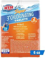 """HTH Super 3"""" Chlorinating 4-in-1 Tablets for Swimming Pools, 6 oz"""