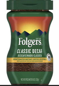 Folgers Decaffeinated Instant Coffee Classic Decaf, 8-Ounce Jar