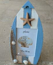 Shell photo frame - beach decor NAUTICAL starfish seashells boat RRP $34.95 new