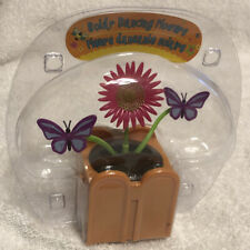 Solar Powered Dancing Pink Flower &  Purple Butterflies Bobble Head Toy NEW
