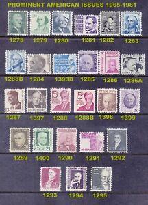 US 1278-1295 MNH OG 1965-81 Prominent Americans Full 26 Stamp Set Very Fine