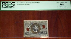 """(2nd Issue) 25 cents EXPERIMENTAL FACE SPECIMEN with Surcharge """"S-18-63"""" SCARCE"""