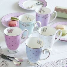 Bombay Duck 'Miss Darcy Bird' Mug in Mint Green & Gold, Gift Boxed