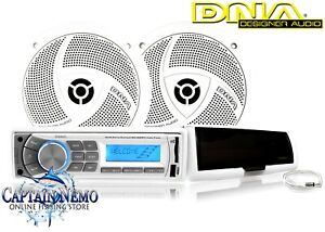 DNA ULTIMATE MARINE AUDIO PACK BOAT STEREO SYSTEM BLUETOOTH AM/FM RADIO MA4BP