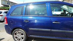 VAUXHALL ZAFIRA B 05 + MODELS DRIVERS SIDE REAR  DOOR, BLUE Z21B
