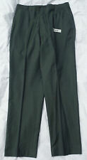 50s Era Green Sharkskin Polycotton Vintage Pants 34 X 30 - Talon Zip