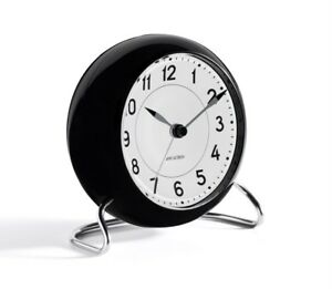 Rosendahl Arne Jacobsen table desk clock alarm black white Station danish design