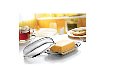 Butter Dish Tray Retro Serving Holder With Lid Hygienic Storage Transparent Box