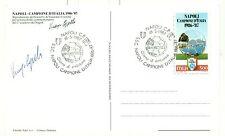 NAPOLI CAMPIONE D'ITALIA 1987 - Cartolina autografata