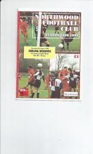 Reserves Teams L-N Football Pre-Season Fixture Programmes