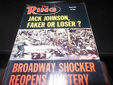 THE RING 1969 JACK JOHNSON COVER BOXING MAGAZINE RARE COOL GOOD CONDITION