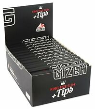 2 Boxen (52x) Gizeh Black Papers + Tips King Size Slim Extra Fine AKTION