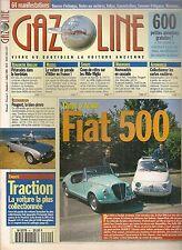 GAZOLINE 4 NUMERO COLLECTOR GUIDE D'ACHAT FIAT 500 (TOUS TYPES) CARTES ROUTIERES