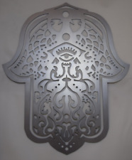 Hamsa Hand Wall Art Hand drawn & laser cut from metal