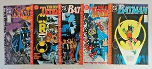 Batman #440-442 & New Teen Titans #60-61 Lonely Place of Dying Complete Set DC